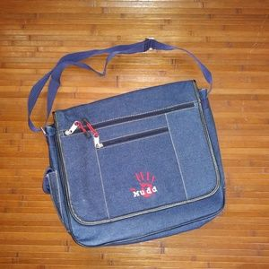 Mudd Denim Messenger Bag